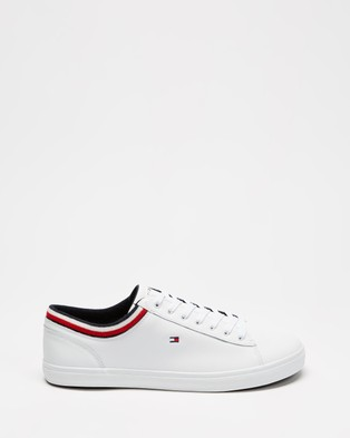 Tommy Hilfiger Essential Leather Vulc Sneakers - Sneakers (White)