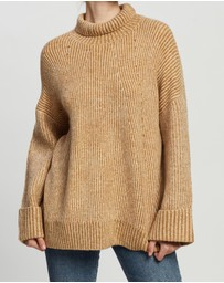 TOPSHOP - Knitted Super Soft Funnel Neck Jumper