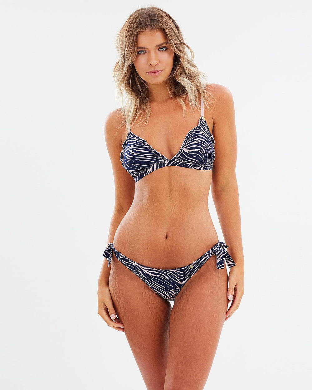 Love Stories Zoey Bikini Bottoms Bikini Bottoms Zebra Burnished Lilac Zoey Bikini Bottoms