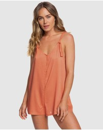 Roxy - Womens Cutty Heart Strappy Romper