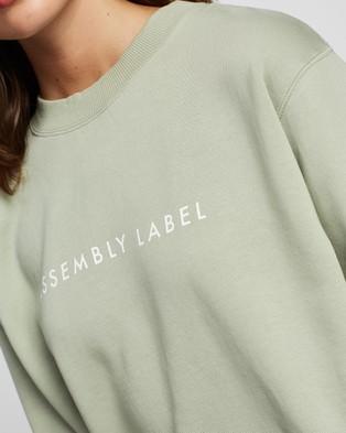 Assembly Label Logo Fleece Sweater - Sweats (Green)