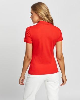 Lacoste Stretch Cotton Piqu?? Polo Shirt   Women's - Tops (Corrida)
