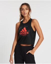 adidas Performance - Fast Graphic Crop Tee - Women's