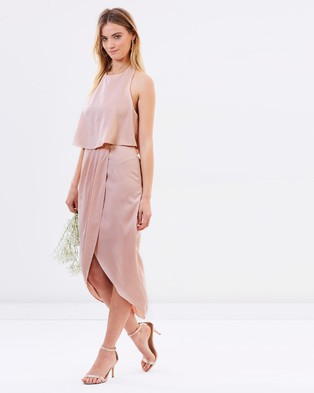 Atmos & Here – Allie Midi Dress – Bridesmaid Dresses Nude Pink
