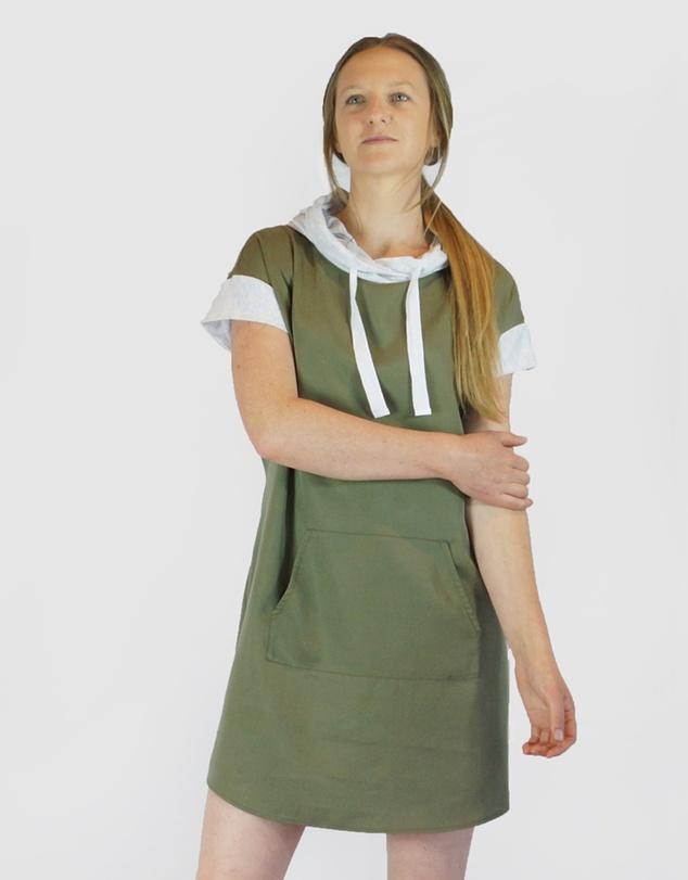 Women Tencel Hoodie Dress