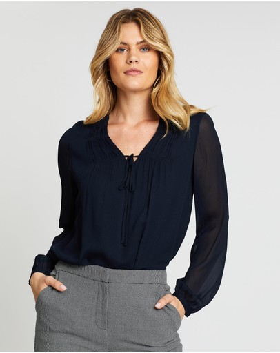 David Lawrence - Shirring Detail Top