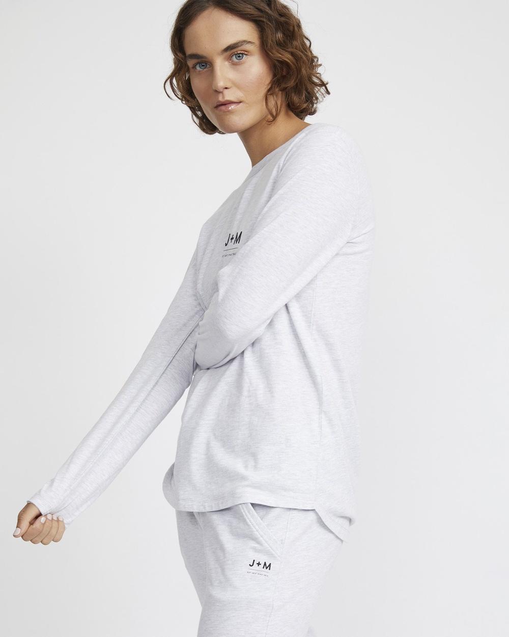 Jac & Mooki - Charlie Long Sleeve Tee - Long Sleeve T-Shirts (grey marle) Charlie Long Sleeve Tee