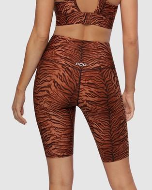 Lorna Jane Jungle Cat Bike Shorts - 1/2 Tights (Jungle Cat Print)