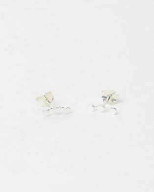 Ichu Tiny Triple Circle Ear Cuff, Earring Set - Jewellery (925 Sterling Silver)