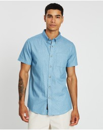 Staple Superior - Printed Chambray SS Shirt