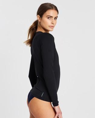 Zoggs Long Sleeve Full Zip Sun Top - Swimwear (Black)
