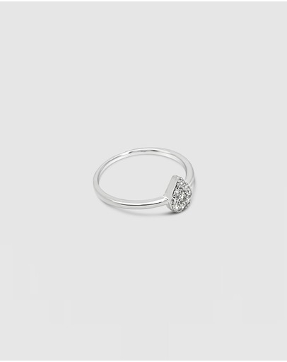 Ichu Tiny Tear Ring 925 Sterling Silver
