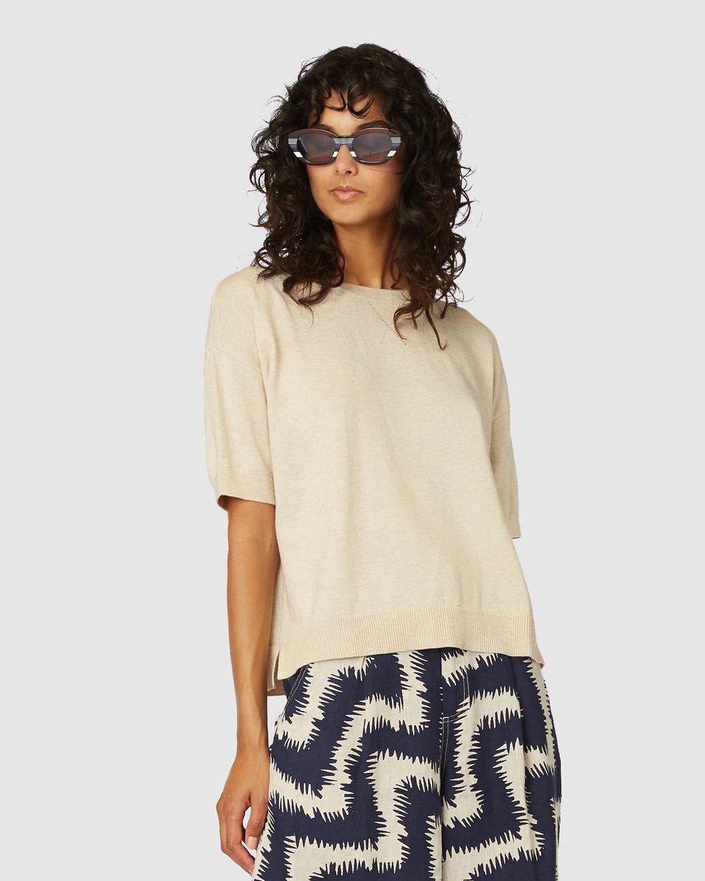 Gorman - Loose Leaf Knit Tee - T-Shirts & Singlets (Brown) Loose Leaf Knit Tee