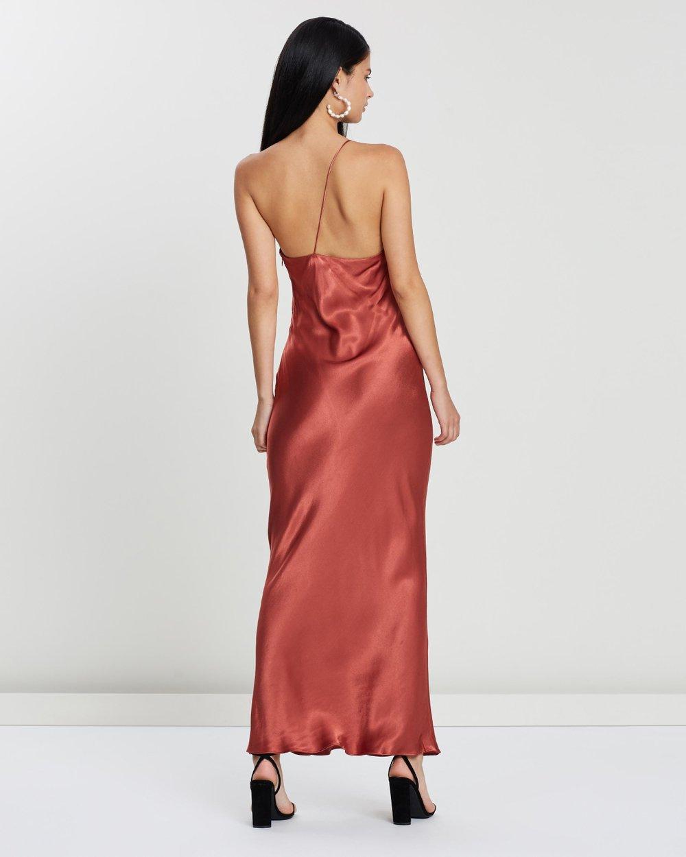 44eee195cd0b One-Shoulder Bias Midi Dress by Shona Joy Online | THE ICONIC | Australia