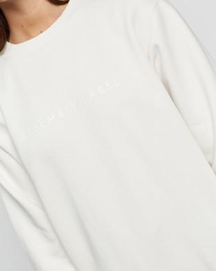 Assembly Label Logo Fleece Sweater - Sweats (Silver Grey / White)