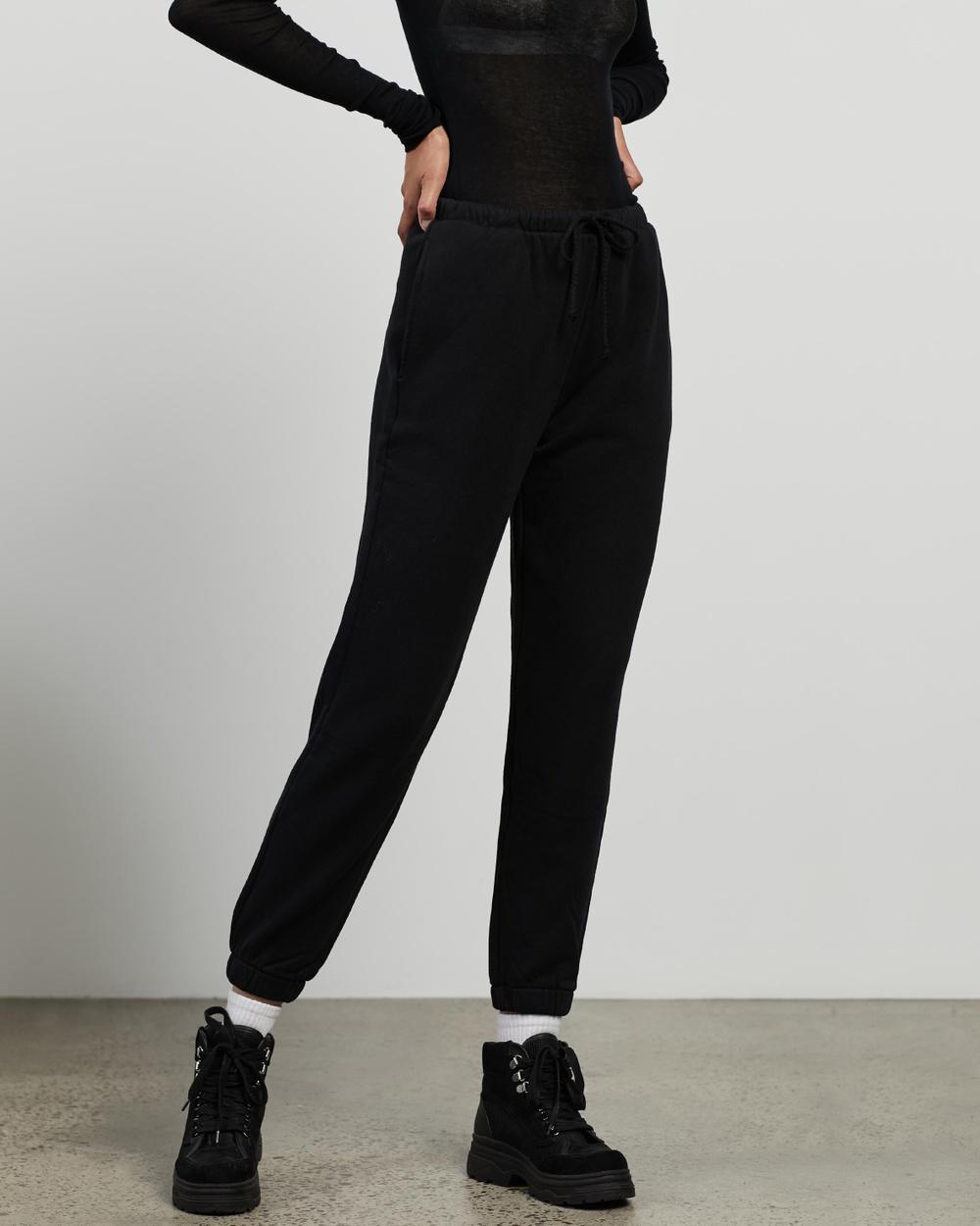 American Vintage Fobye Joggers Sweatpants Vintage Black
