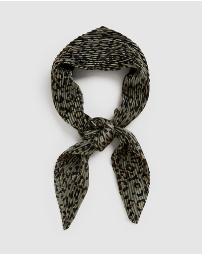 French Connection - Animal Pleated Scarf