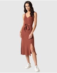Forever New - Colette Fit and Flare Midi Knit Dress