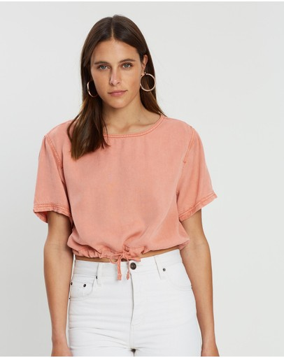 Bdg By Urban Outfitters Easy Crop Top Peach