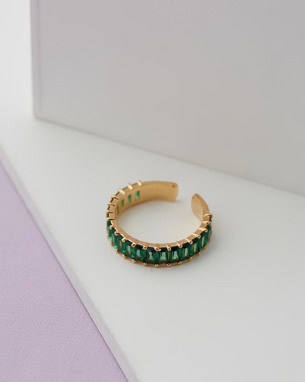 Zahar Stephanie Ring Jewellery Green
