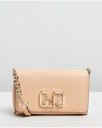 Calvin Klein - CK Signature Small Flap Cross-Body Bag