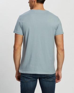 RRL Crew Neck Short Sleeve T Shirt - T-Shirts & Singlets (Trading Post Blue)