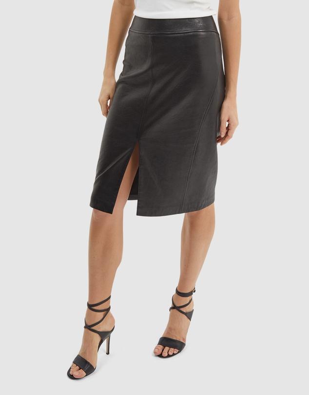 Women Lilia Leather Pencil Skirt