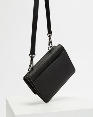 DKNY Perla Mini Flap Bag - Bags (Black & Silver)