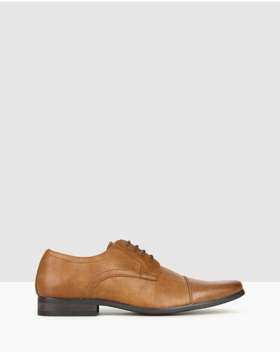 Betts Lazer Derby Dress Shoes Tan