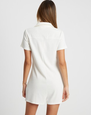 Calli Amber Playsuit - Jumpsuits & Playsuits (White)