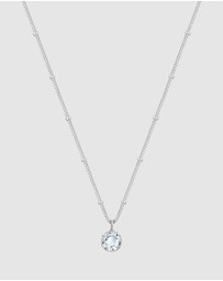 Elli Jewelry - Necklace Ball Chain Basic Swarovski® Crystals 925 Sterling Silver