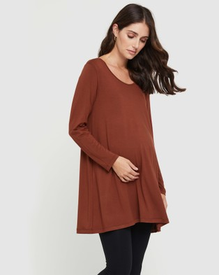 Bamboo Body - Leanne Tunic Top Tops (Smoked Paprika)