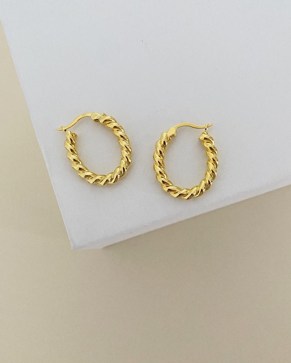 ALIX YANG Sofia Hoops Jewellery Gold