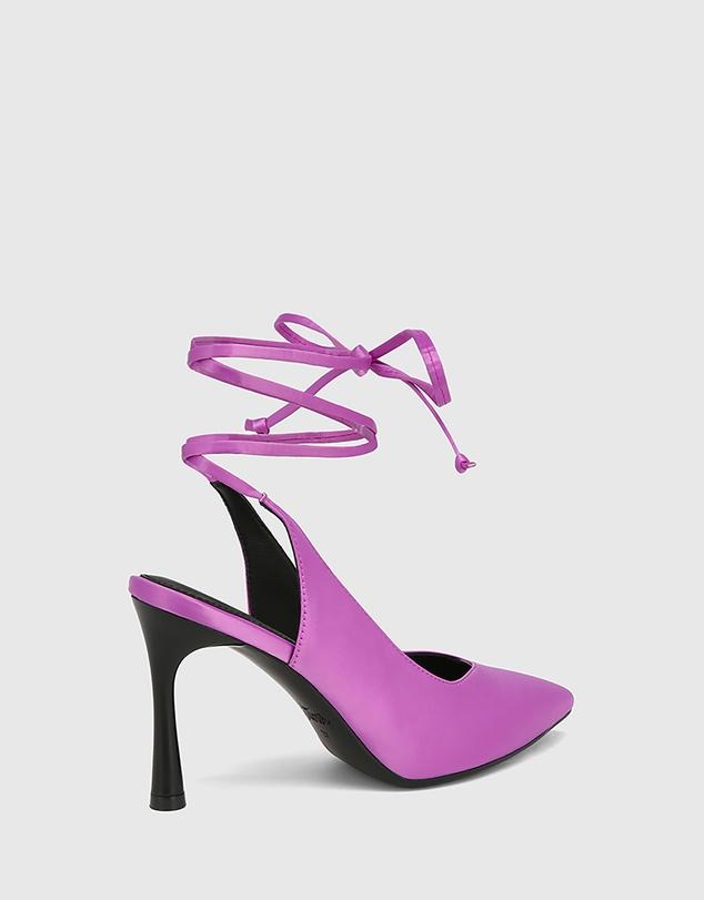 Women Hurskina Satin Leg Tie Pumps