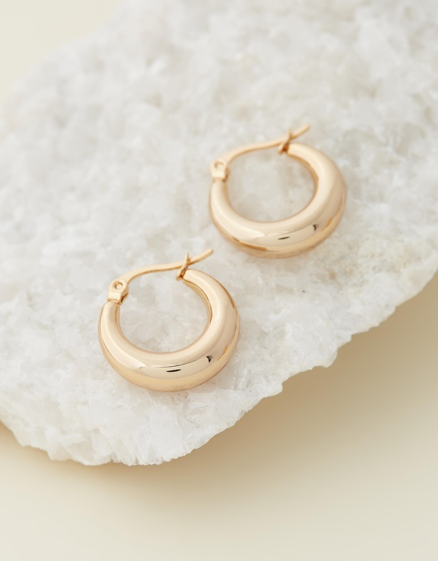 Reliquia Jewellery - Baby Coralia Gold Hoop Earrings
