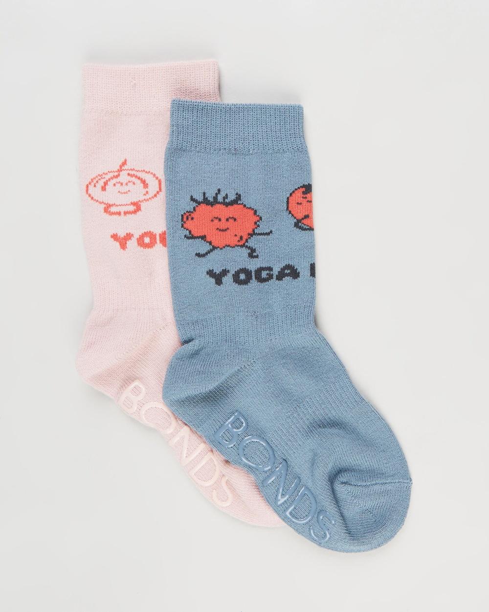 Bonds Baby 2 Pack Organic Stay On Crew Socks Babies Tender Pink 2-Pack