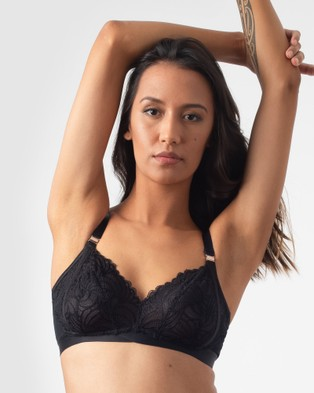 Projectme Intimates Warrior Soft Cup Nursing Bra - Underwire Bras (Black)