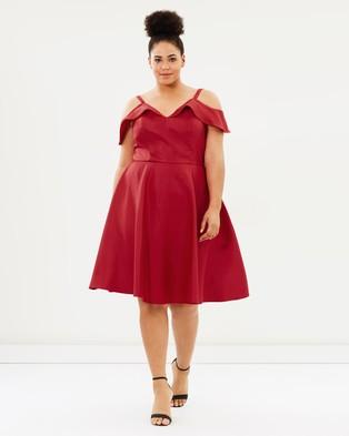 Chi Chi Curve – Ampika Dress – Bridesmaid Dresses Red