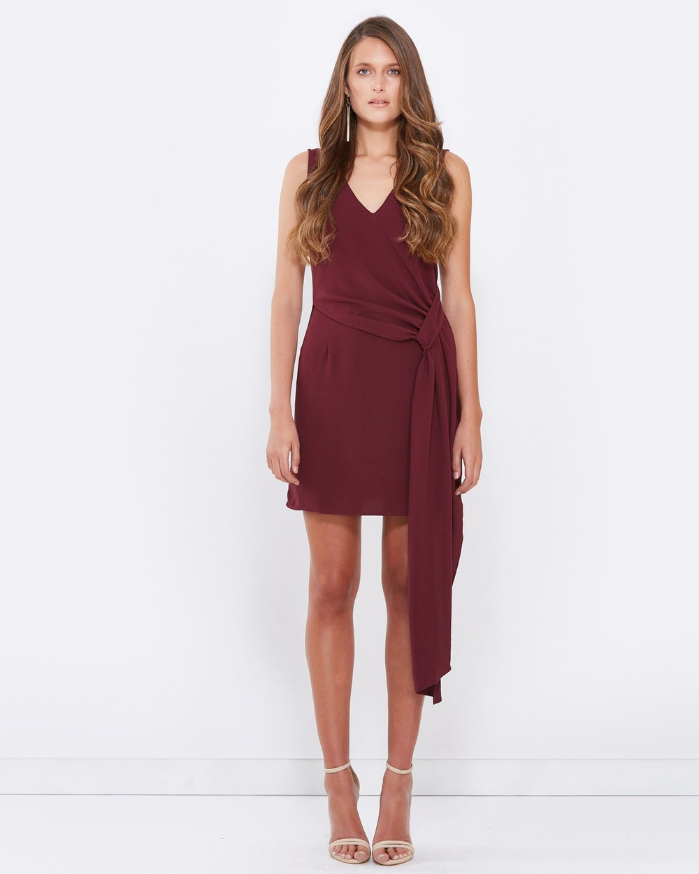 Tussah Victoria Draped Mini Dress Dresses Plum Victoria Draped Mini Dress