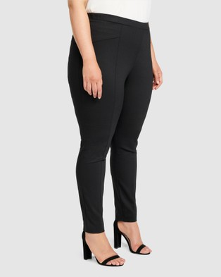 Forever New Curve Sophie Mid Rise Curve Pull On Pants - Pants (Black)