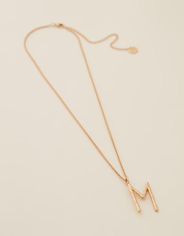 Women Grande Letter Necklace - M
