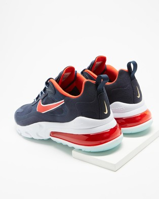 Nike Air Max 270   Men's - Low Top Sneakers (Midnight Navy, Chile Red, Obsidian, White & Metallic Gold)