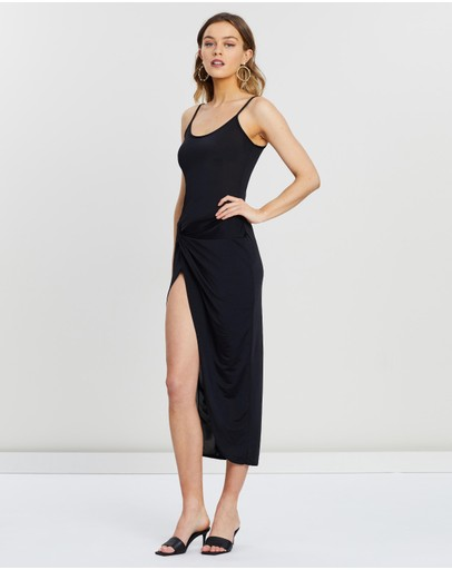 Missguided Slinky Cami Twist Body-con Midaxi Dress Black