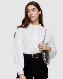 TOPSHOP - Poet Embroidered Shirt