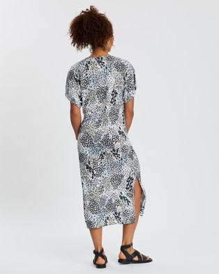 Sportscraft Tesor Skylar Linen Dress - Printed Dresses (blue)