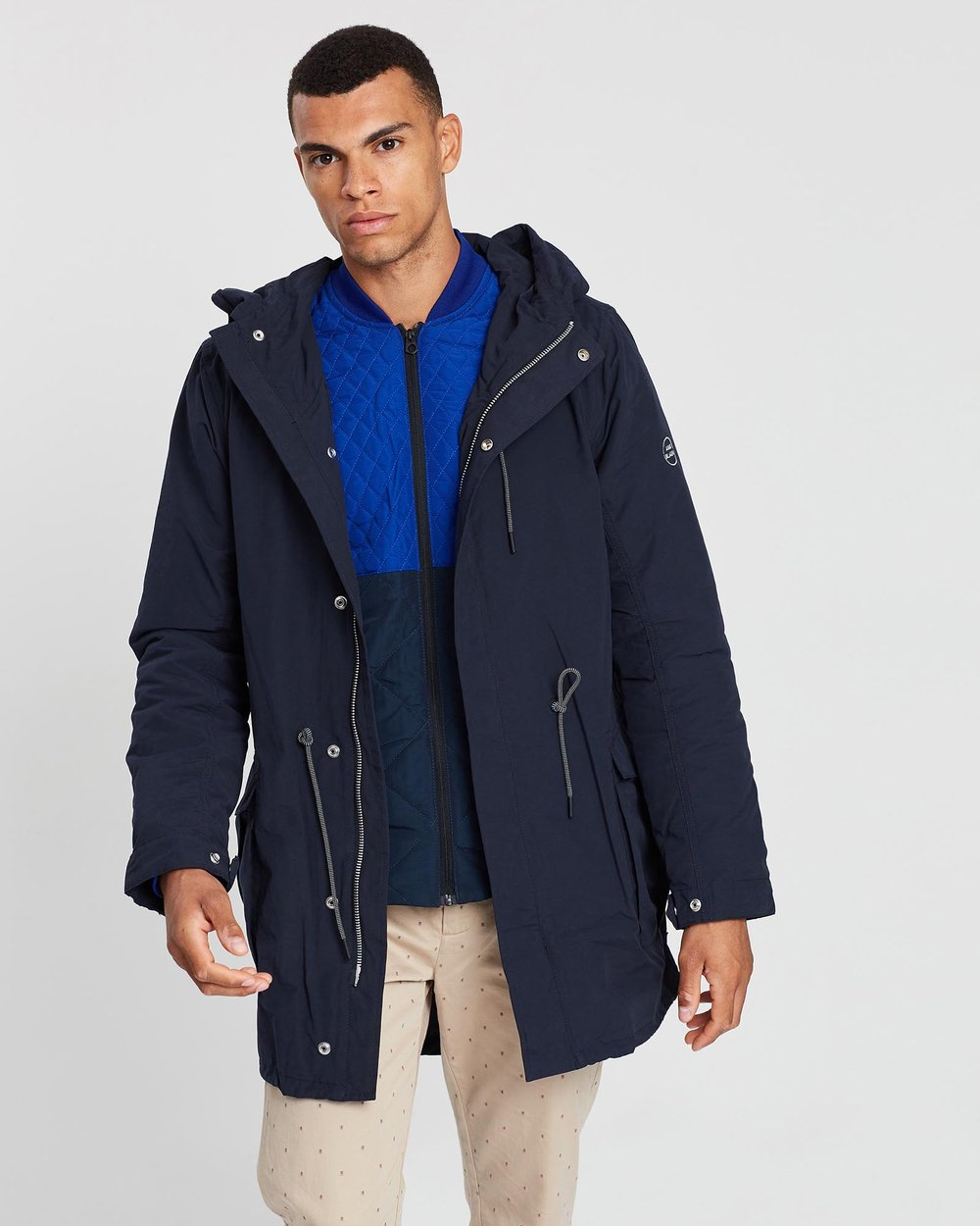 f7ae4357e49d Ams Blauw Double Layered Parka Jacket by Scotch   Soda Online