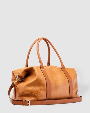 Louenhide Alexis Weekender Bag Bags Ostrich Nutmeg