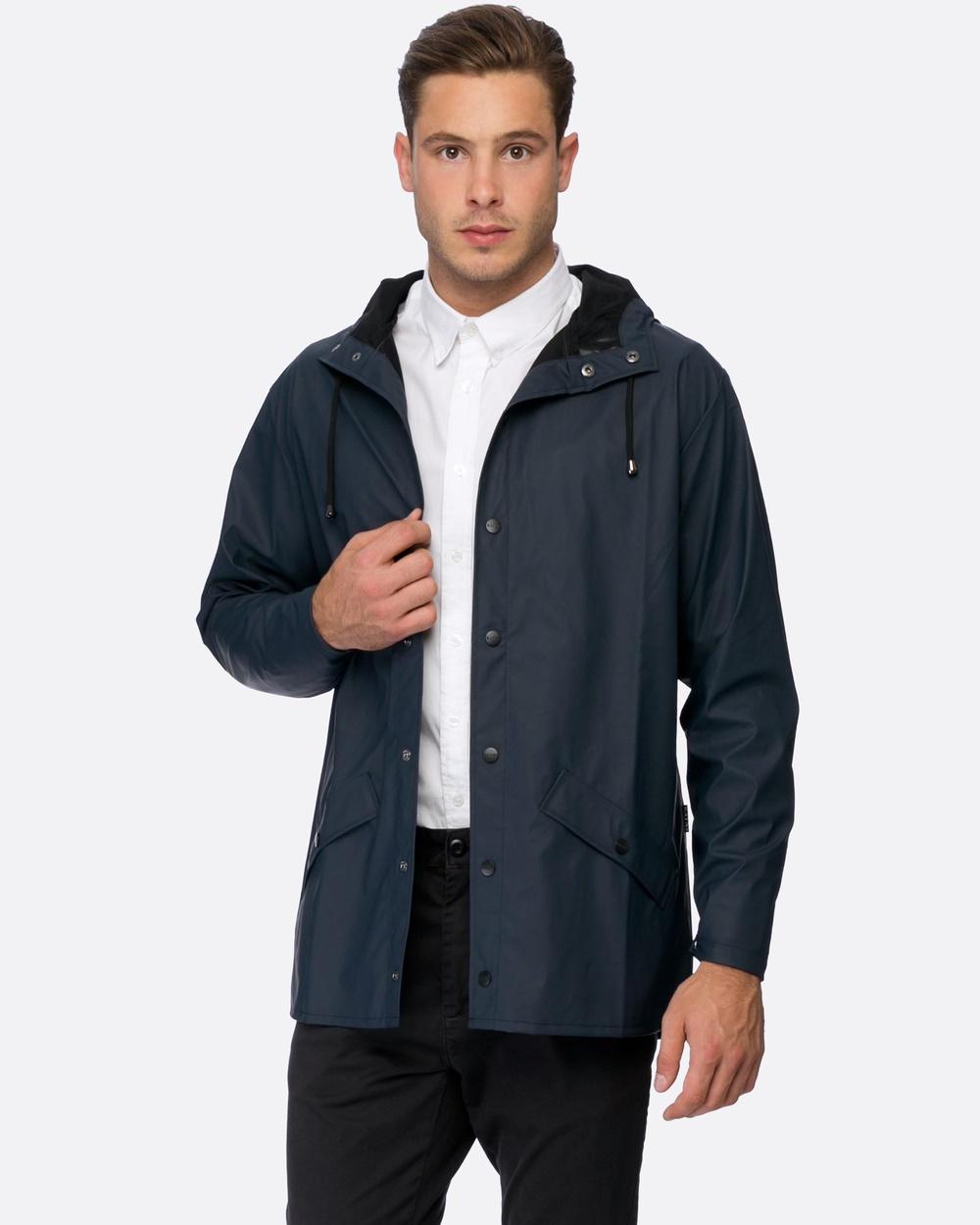 RAINS Jacket Coats & Jackets Blue