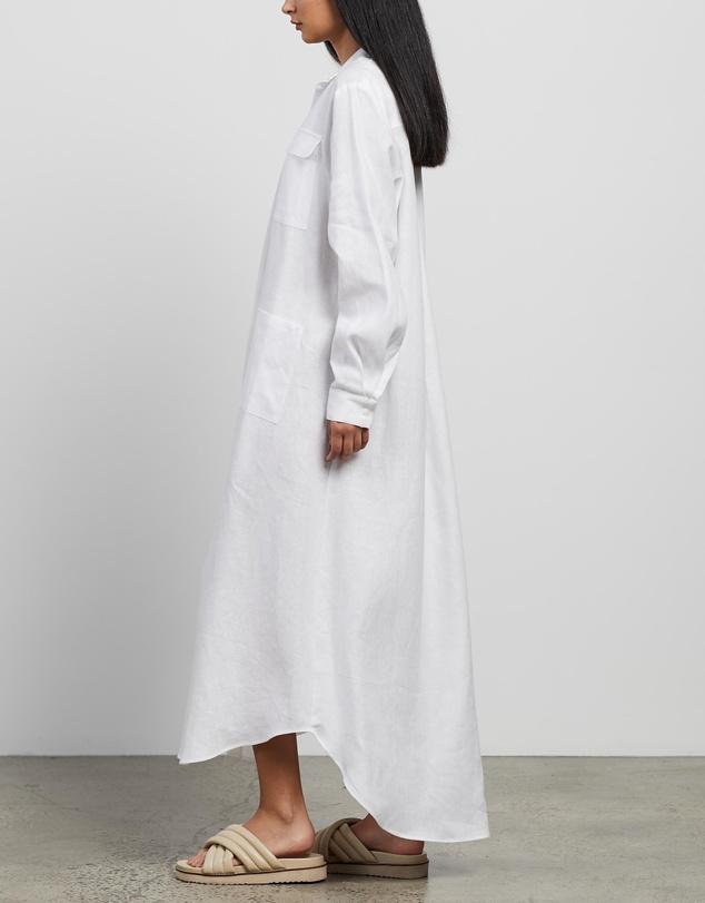 Women Linen Shirt Dress