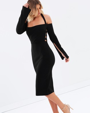Bec & Bridge – Smoke Stone Midi Dress – Bodycon Dresses (Black)